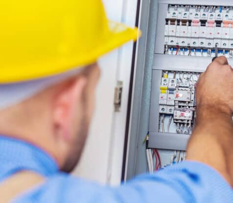 electrician on commercial circuits and breakers electrical services